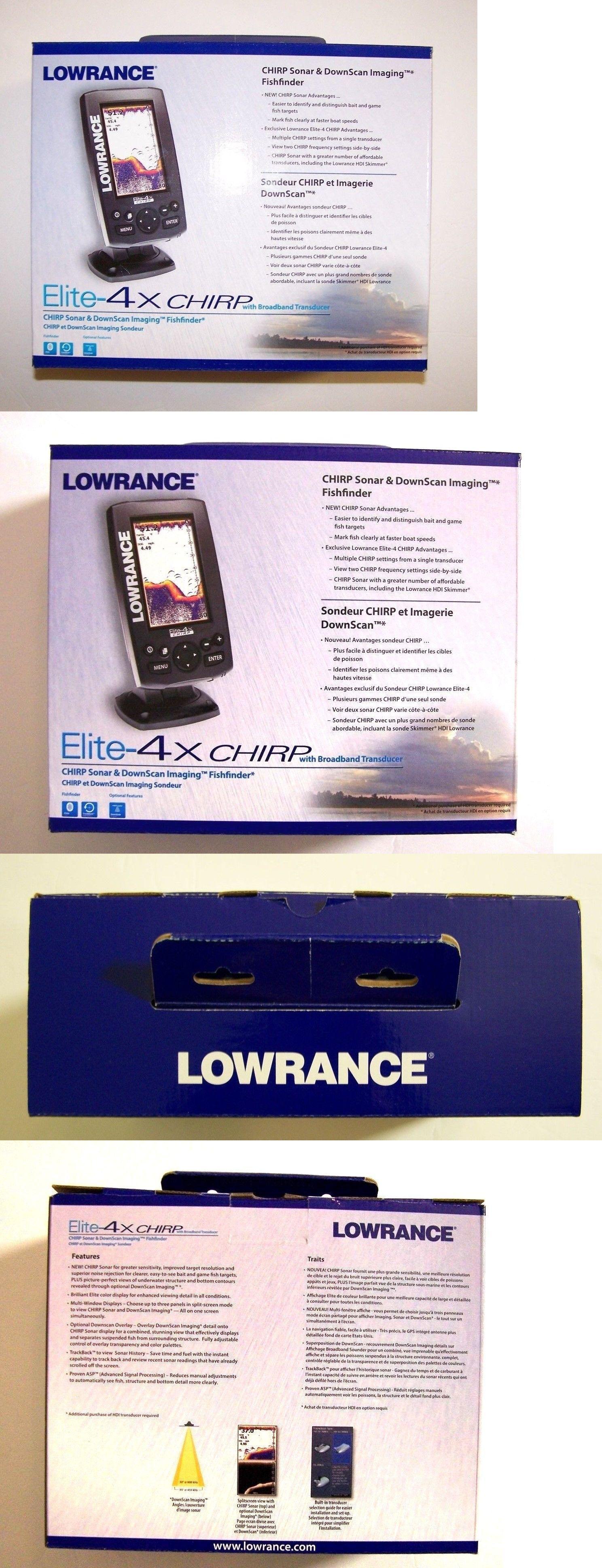 Fishfinders 29723: Lowrance Elite-4X Chirp Sonar Downscan Imaging