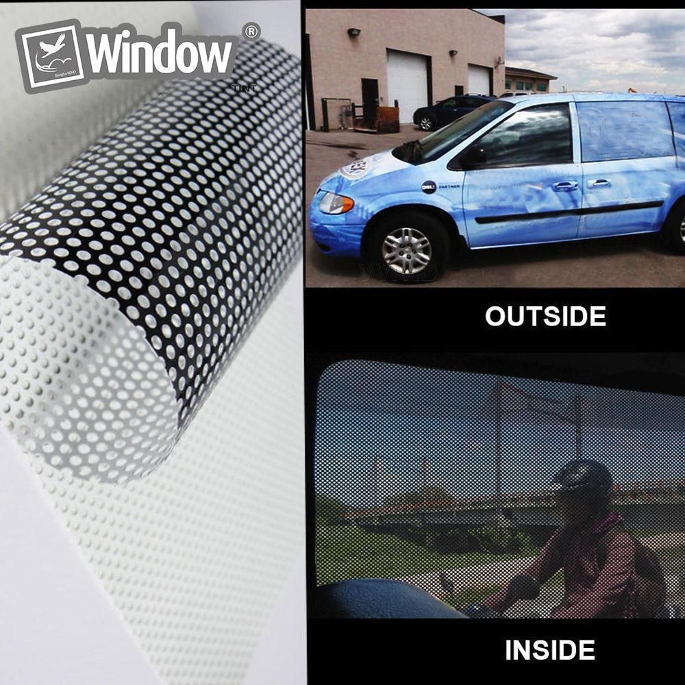 Perforated Mesh Film White Fly Eye One Way Vision Vinyl Window