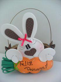 Conejos De Pascuas Semana Santa De Manualidades Manualidades Canastas De Pascua