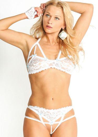 9835b90bef BRIDAL LACE BRA AND PANTY SET - Bridal lace bra and panty set. Panty ...