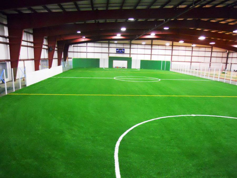 Mansion with indoor soccer field  i wish i could have this in my house. #indoor #soccer #field ...
