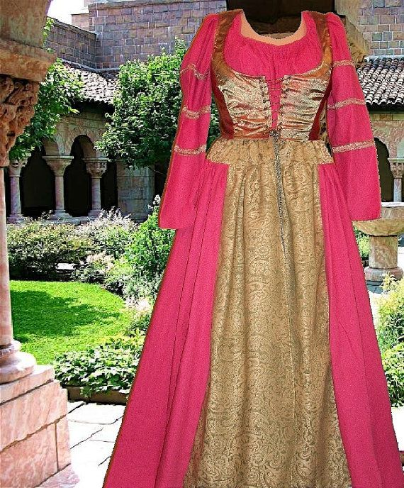 Renaissance Medieval Gown Costume SCA Garb 3pc by CamelotsClosets, $68.00
