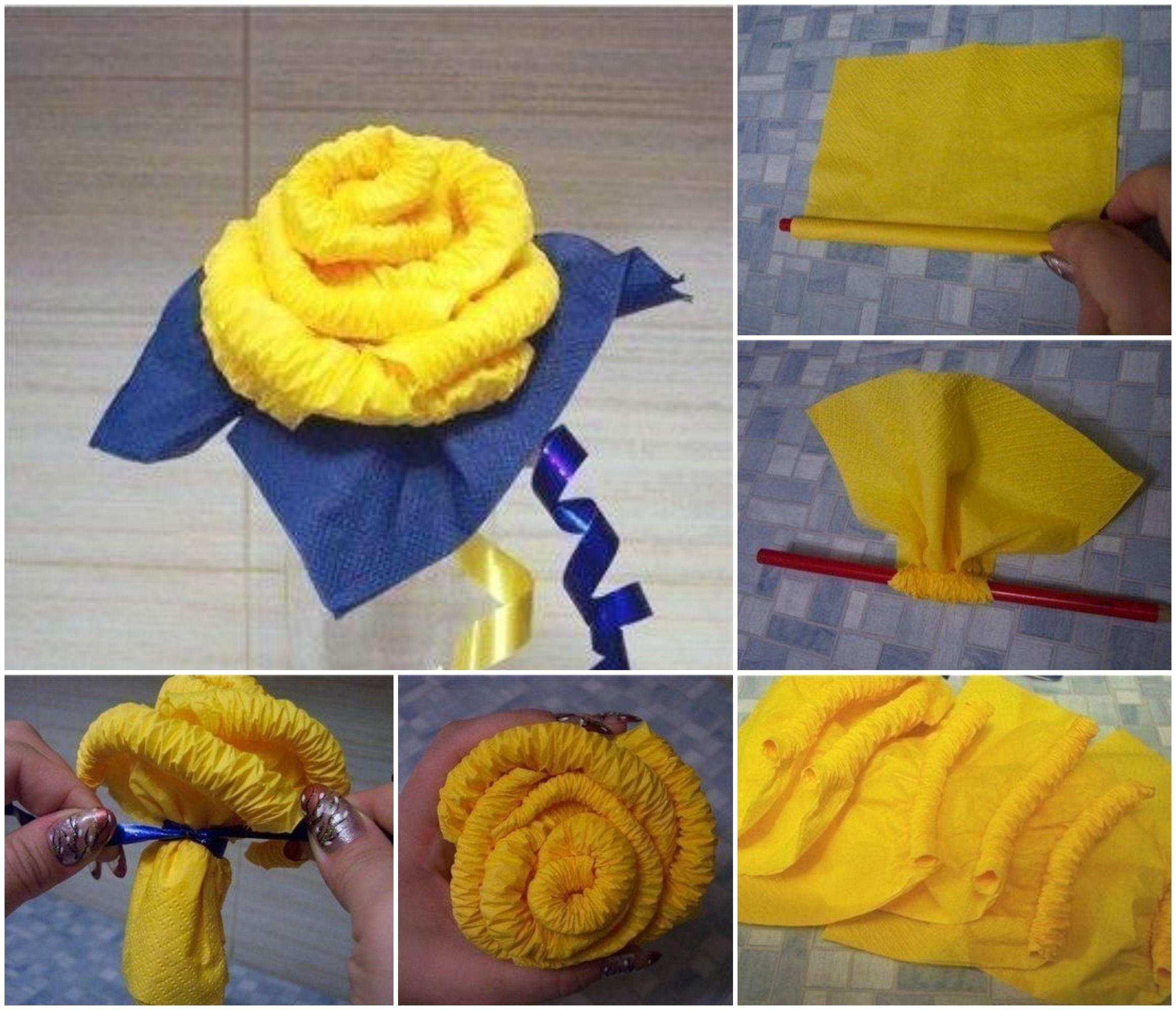 Como hacer rosas con servilletas de papel manualidades - Servilletas de papel decoradas para manualidades ...