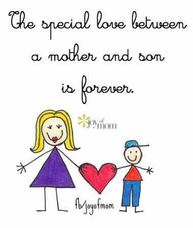 13 Cute Mom and son quotes sayings poems Images | Happy ...
