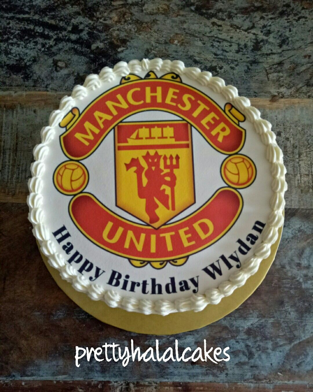 Manchester United Buttercream Cake Manchester United Cake Butter Cream Buttercream Cake