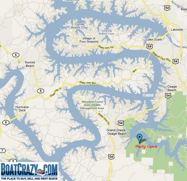 Lake Of The Ozarks Mile Marker Map Party Cove Lake of the Ozarks | Missouri ~♥ My Home ~♥~♥ in