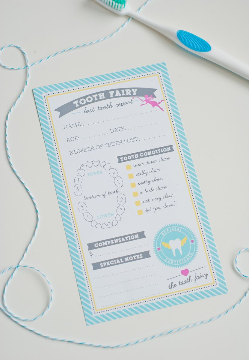 tooth fairy certificate   free printables   Pinterest