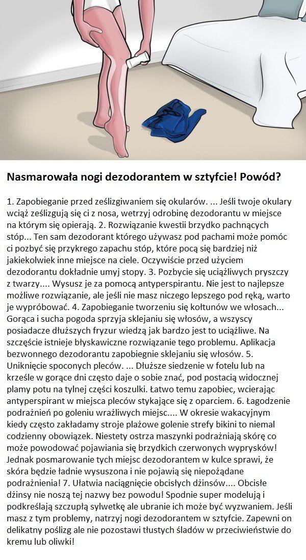 Nasmarowala Nogi Dezodorantem W Sztyfcie Powod Life Hacks Beauty Diet