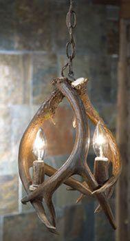 Rustic Lighting Lodge Antler