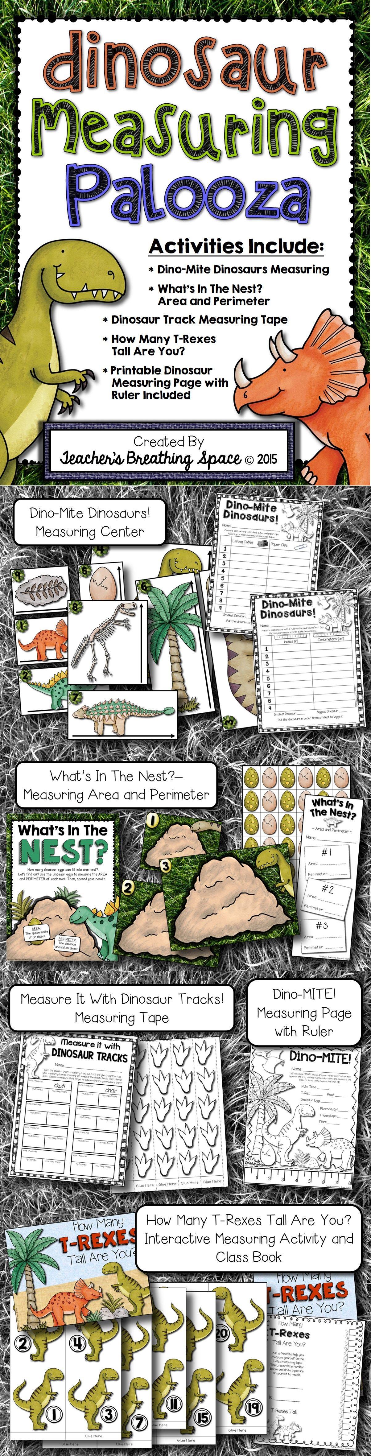 Dinosaur Measuring Palooza Dinosaur Measurement Math