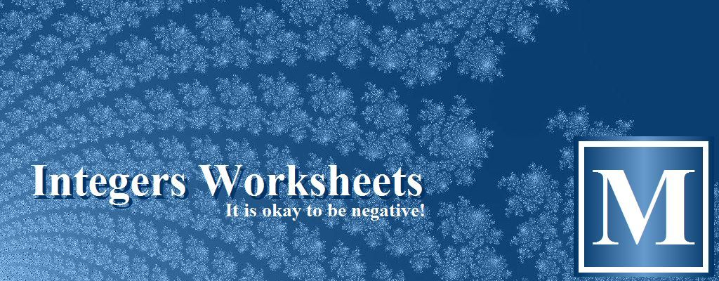 Integers Worksheets Including Comparing And Ordering, Adding