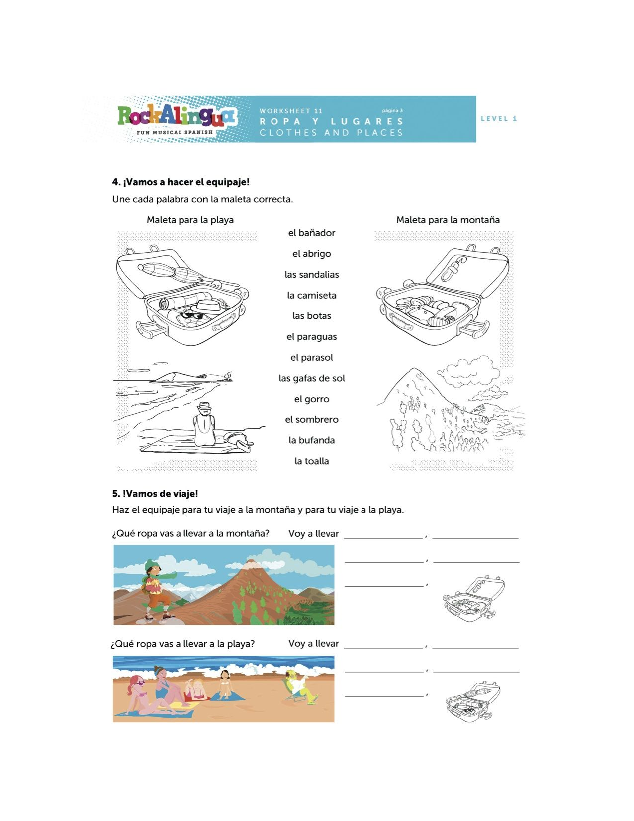 worksheet Comparatives In Spanish Worksheets spanish worksheet about clothes places and weather more teaching resources at www rockalingua