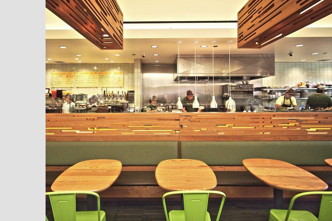 Tender Greens restaurant, by Valerio Architects. Greens