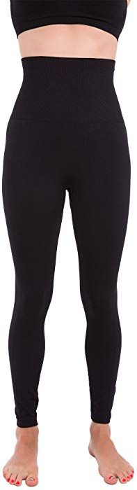 9d9fa33c625 Amazon.com: Homma Activewear Thick High Waist Tummy Compression Slimming  Body Leggings Pant (Small, Black): Clothing