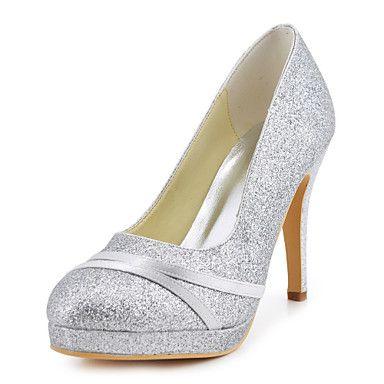 Women s Spring   Summer   Fall Heels Satin   Stretch Satin Wedding Stiletto  Heel Sparkling Glitter Blue   Red   Ivory   White   Gold 62e158151bf4