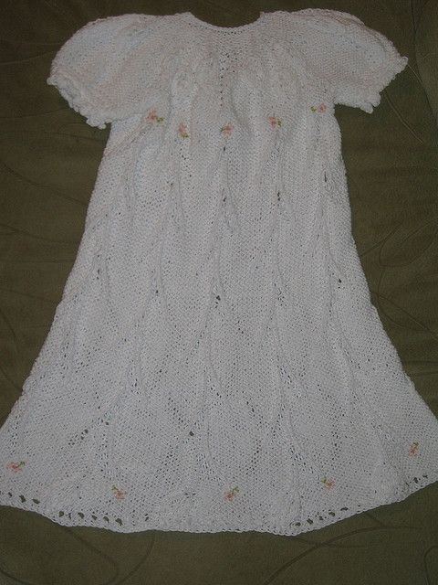 Free Pattern Floral Trellis Christening Gown By Judy Lamb