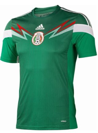 4fa4cf704 Mexico 2014 World Cup Home Shirt (Official) http://brazilsworldcupshirts.co