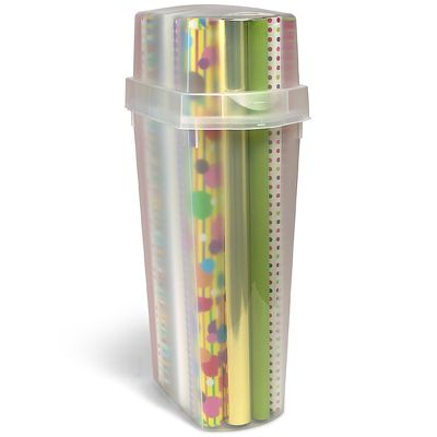 Christmas Wrapping Paper Storage Containers