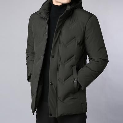 b8664321326b 2019 Thick New Winter Fashion Brand Jacket Men Korean Quilted Jacket  Streetwear Parkas Hooded Puffer Bubble Coat Mens Clothing