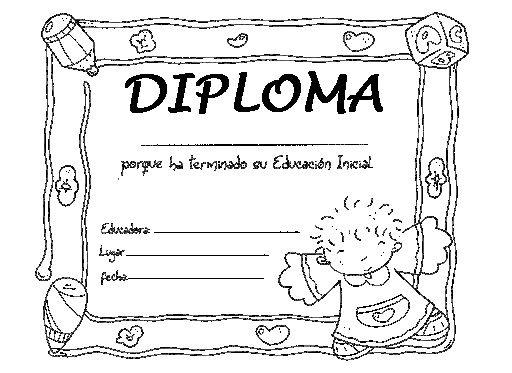 Imagenes de graduación de preescolar para colorear - Imagui | ideas ...