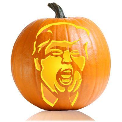 Donald Trump Yell Pumpkin Stencil Pinteres