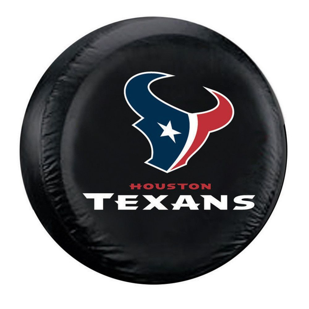 Houston Texans NFL Spare Tire Cover (Standard) (Black)