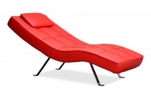 relax liege sunny rot pu leder 3 stufig verstellbar couch sofa wohnzimmer - Wohnzimmer Liege Leder