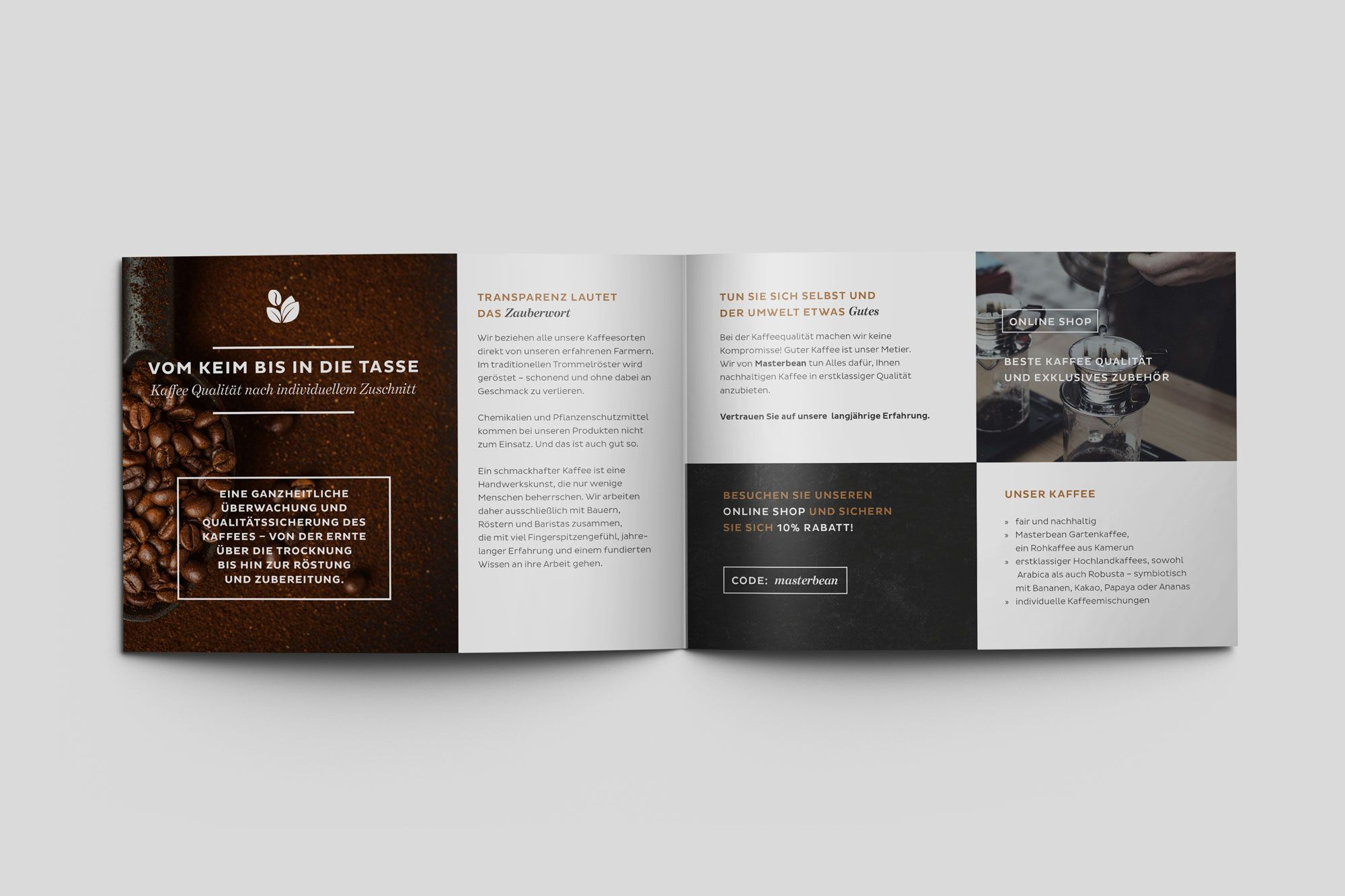 Brochure Design for Coffee Roasters Copyright Aileen Burkhardt