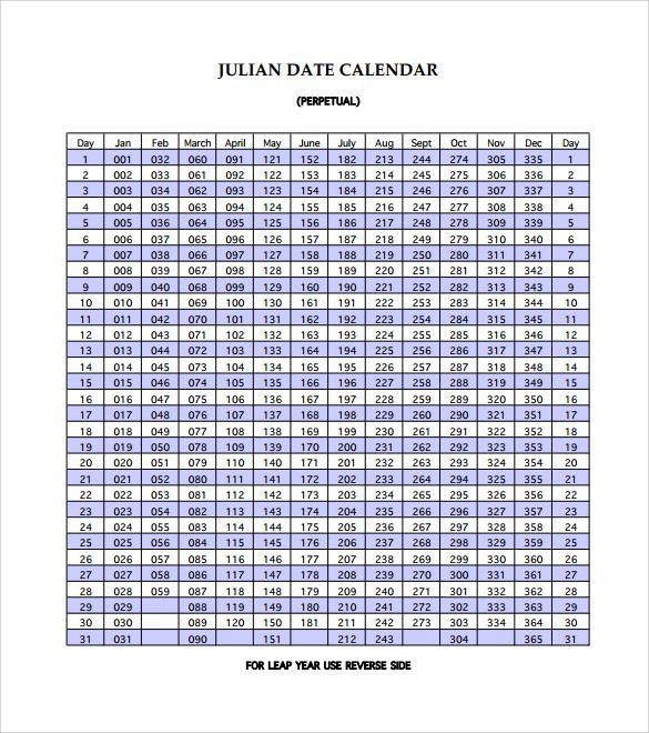 Sample Julian Calendar 10 Download Free Documents In Pdf Calendar Template Printable Calendar Template Calendar