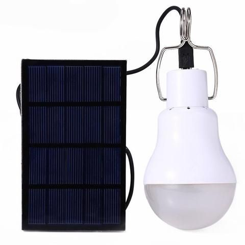 Cette ampoule est idéale pour vous éclairer Son panneau solaire