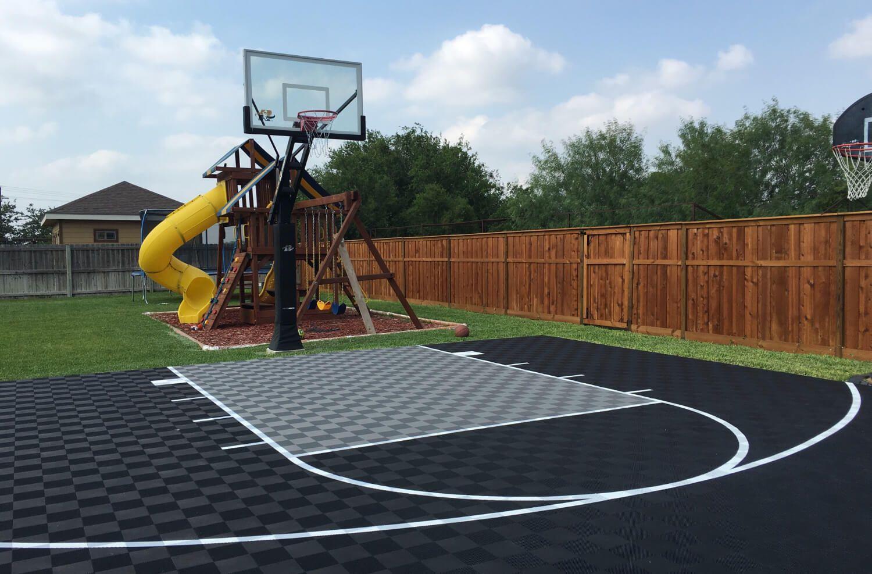 12 Smart Designs Of How To Improve Backyard Basketball Court Ideas In 2020 Basketball Court Backyard Backyard Basketball Home Basketball Court