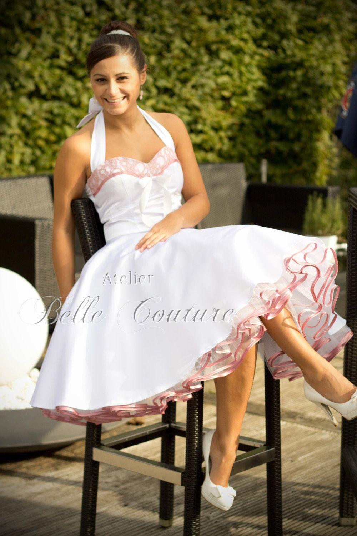 Custom made u handmade short s wedding dress with pink lace item