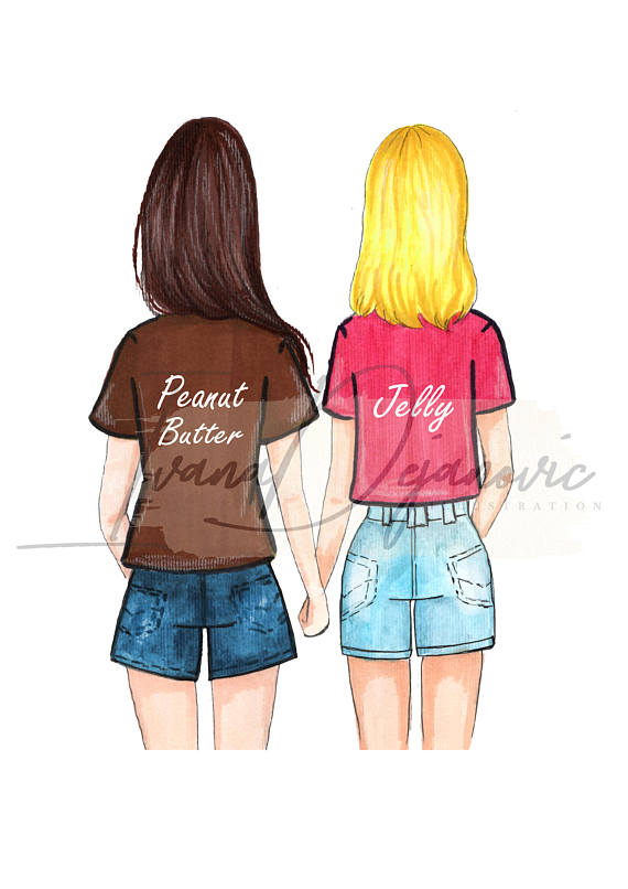 Peanut Butter and Jelly BFF Fashion