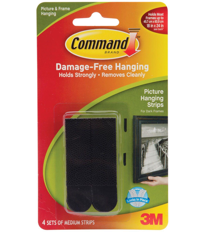 Command medium picture hanging strips black joann