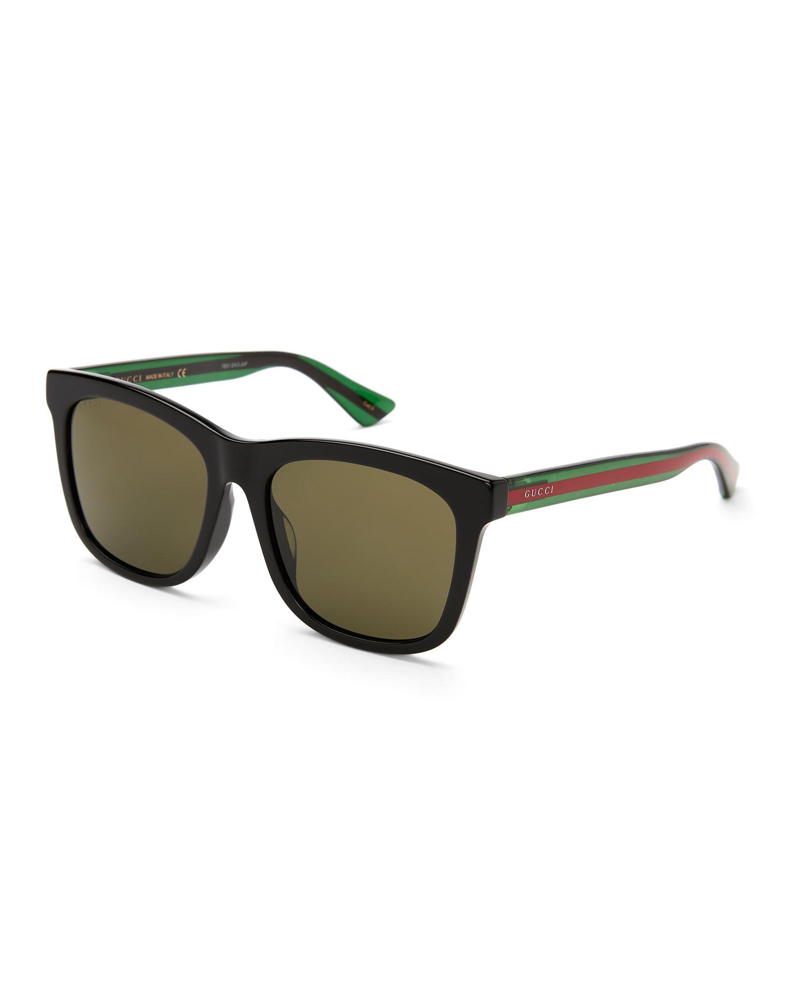 GG 0057/S Black XL Wayfarer Sunglasses