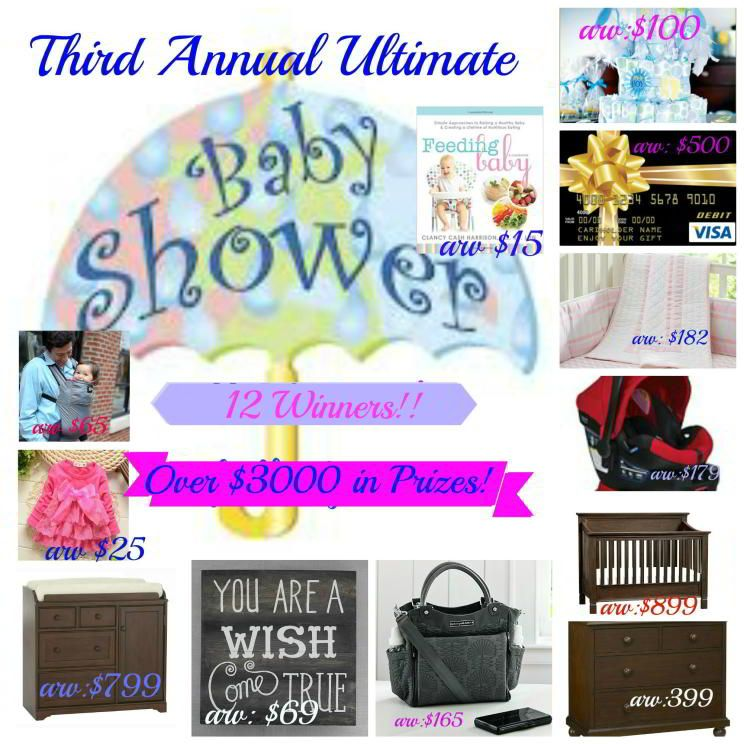 Enter to #win the 3rd Annual Ultimate Baby Shower #Giveaway ~ 12 Winners ~ Ends 5/3 - Davids DIY