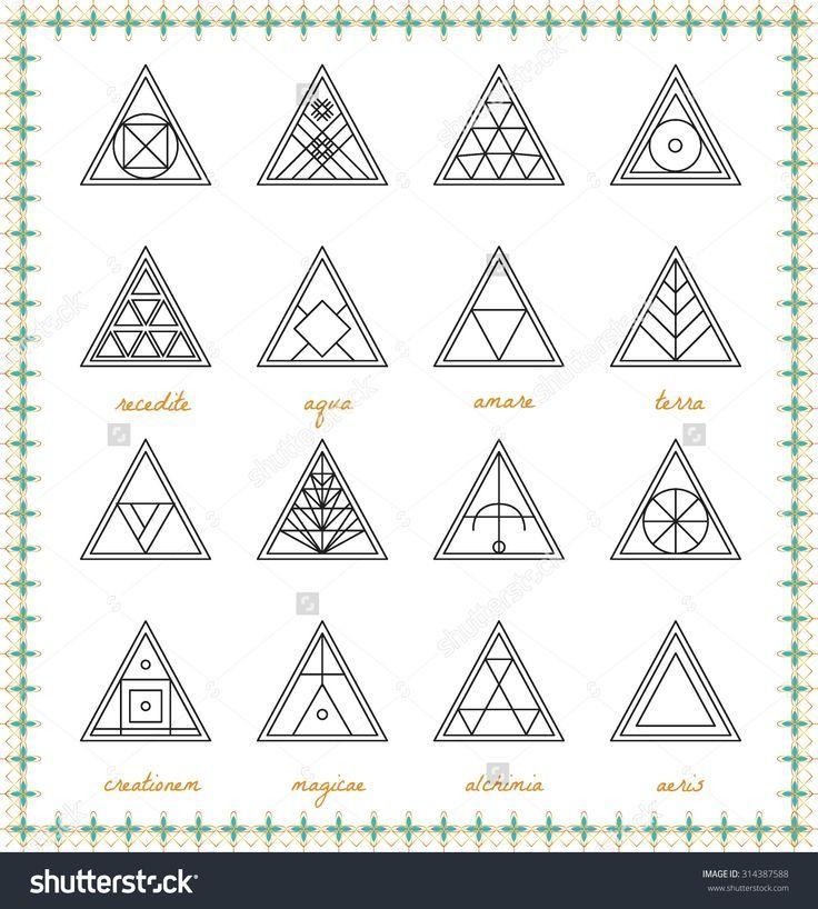 Set Of Geometric Shapes Geometric Drawing Triangle Design Trendy