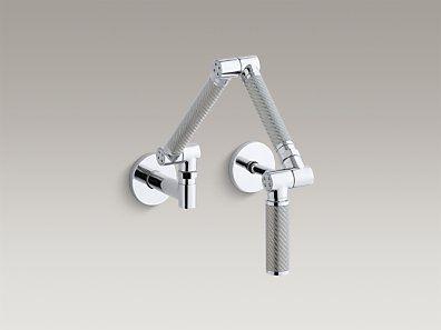 KOHLER   K-6228-C11-CP   Karbon® Articulating two-hole wall-mount ...