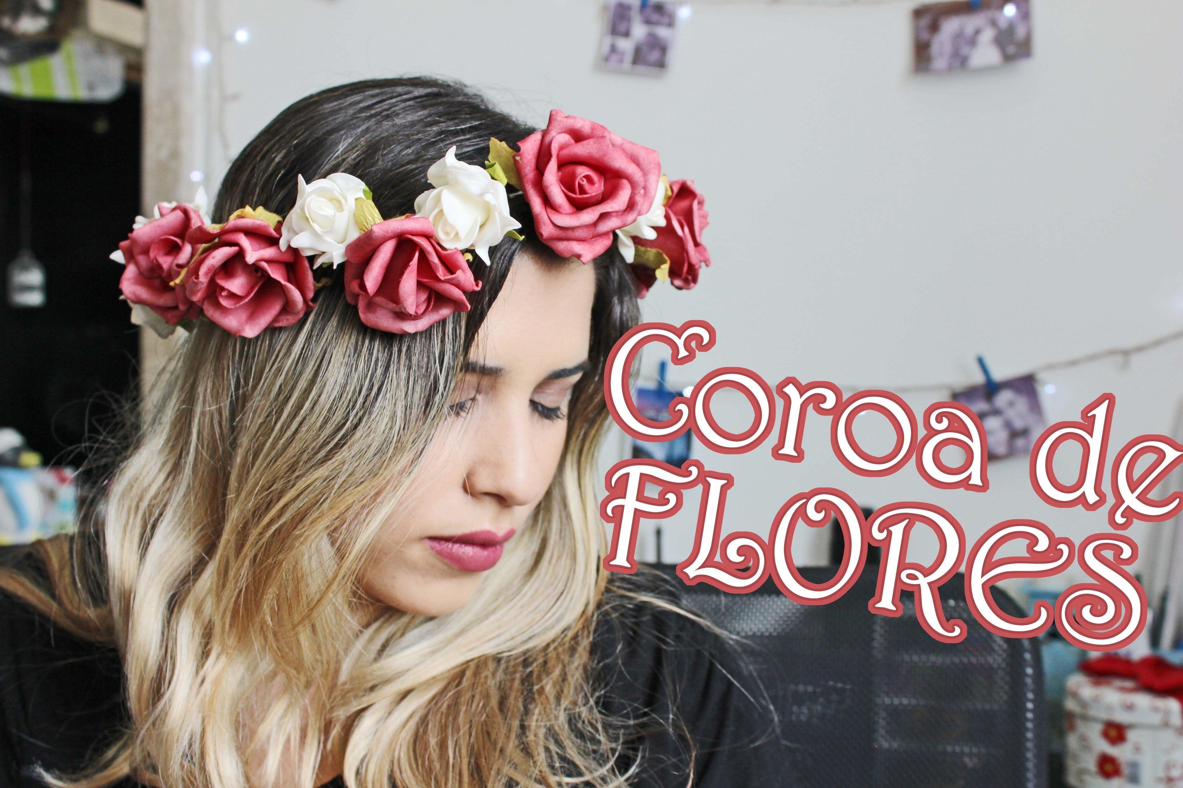 DIY - Coroa de Flores