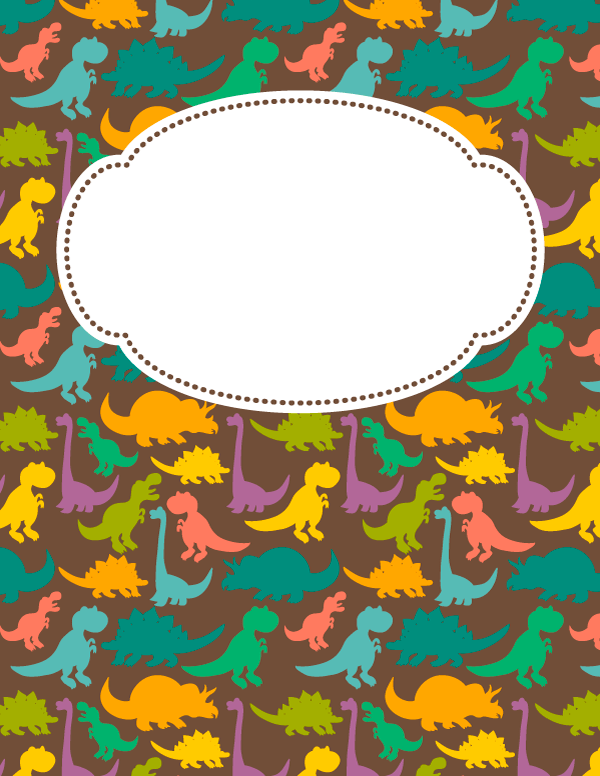 Free Printable Dinosaur Binder Cover Template Download The Cover