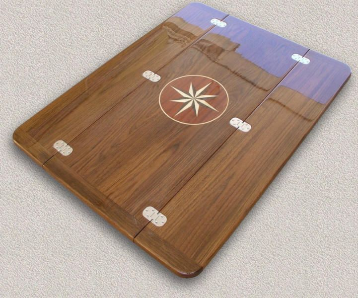 Teak Table Tops Custom Marine Woodwork
