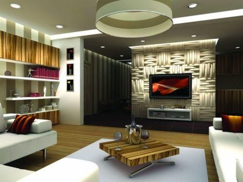 Carved Wood Wall Paneling For Contemporary Room Decorating - decorative wall panels design