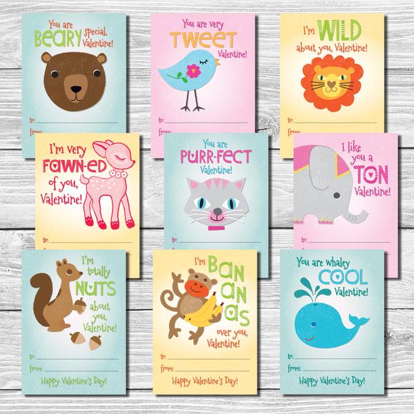 Kids Valentine S Day Cards Set Of 9 Valentines For Kids Valentine S Cards For Kids Valentines Sayings For Kids