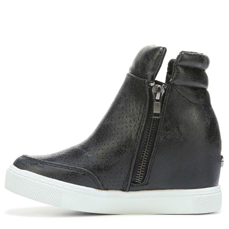 Steve Madden Kids' Jlinqs Hidden Wedge Sneaker Pre/Grade School Shoes (Black )