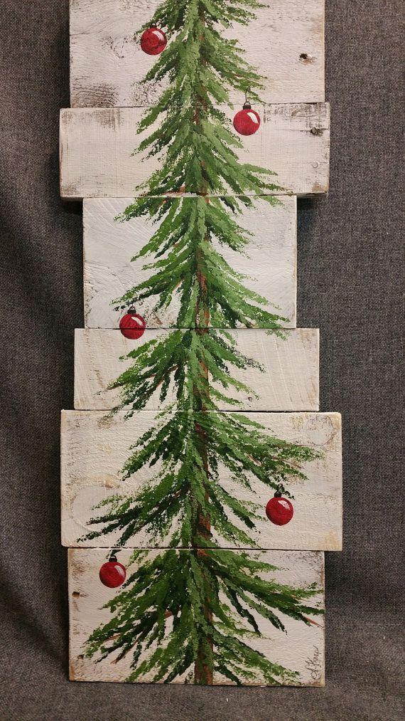 weihnachtsbaum zeichen wei gewaschene rote von. Black Bedroom Furniture Sets. Home Design Ideas