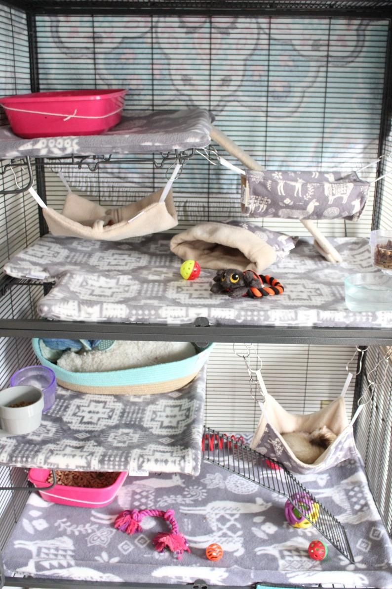 Critter nation cage liner ferret nation pillowcase style