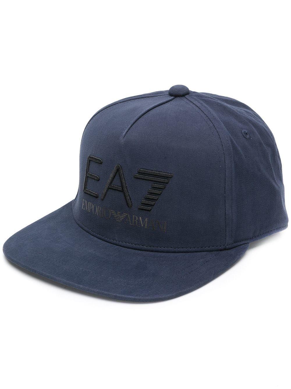 955488e1b0 EA7 EMPORIO ARMANI EA7 EMPORIO ARMANI EMBROIDERED LOGO CAP - BLUE ...