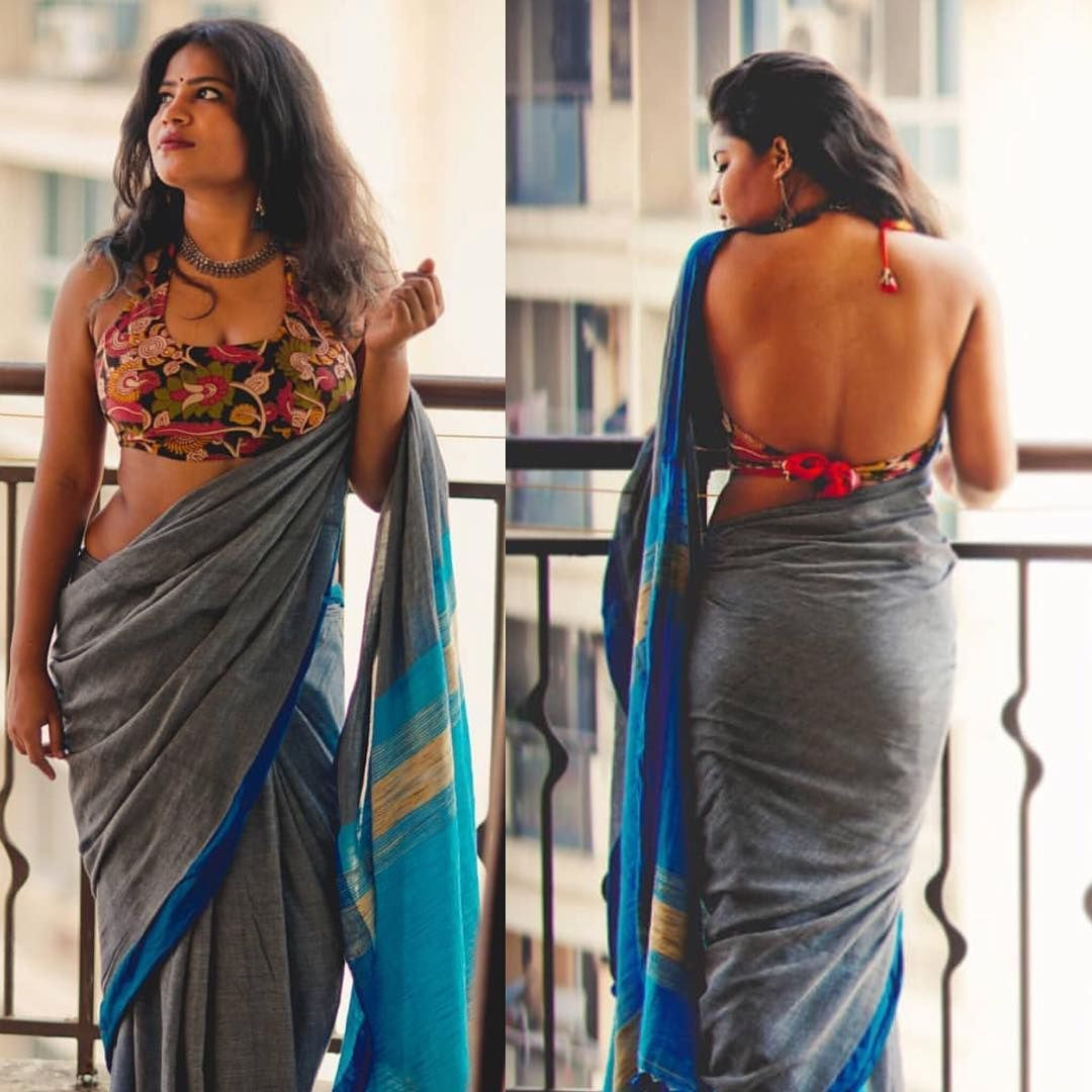 Sexy tight saree ass and