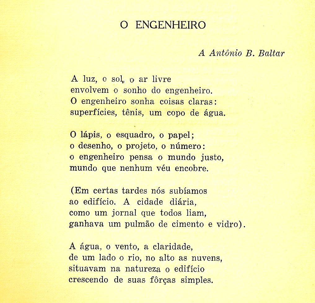 Resultado De Imagem Para Joao Cabral De Melo Neto O Engenheiro