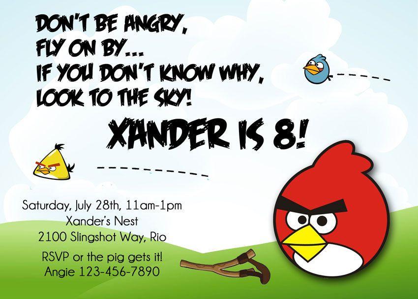 ANGRY BIRDS Birthday Invitation | printables | Pinterest | Angry ...